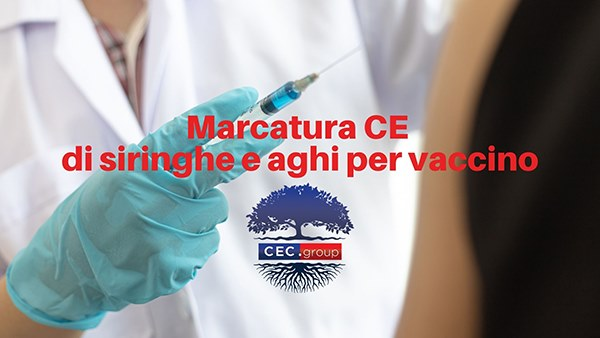Marcatura CE siringhe e aghi per vaccino